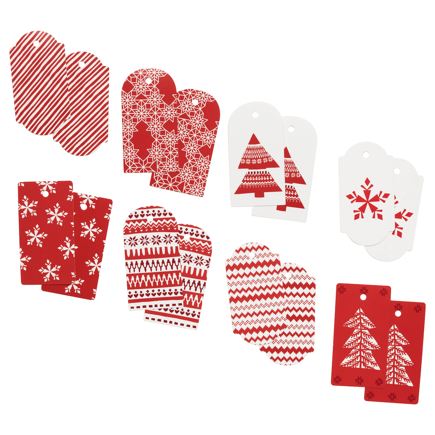 IKEA VINTER 2017 gift tag, set of 16 Hanging gift tags which you can use to decorate your presents.
