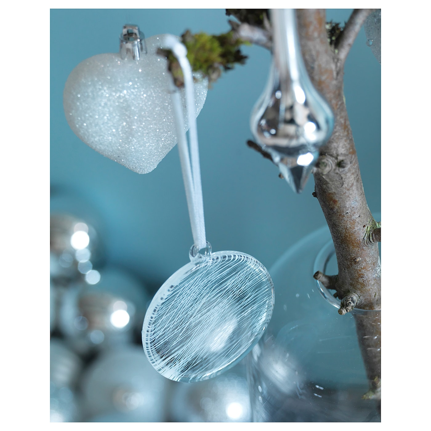 IKEA VINTER 2017 hanging decoration Easy to hang up since it comes with ribbons already attached.