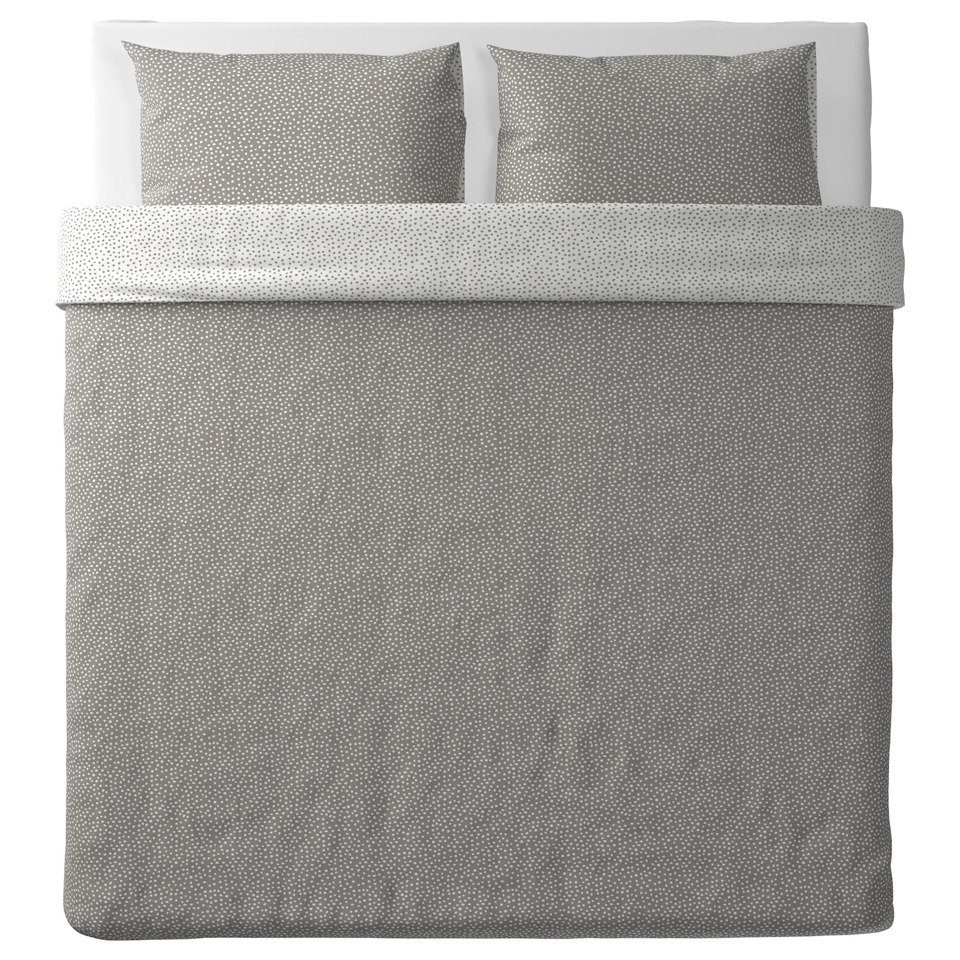 IKEA VINTER 2017 quilt cover and 2 pillowcases Concealed press studs keep the quilt in place.
