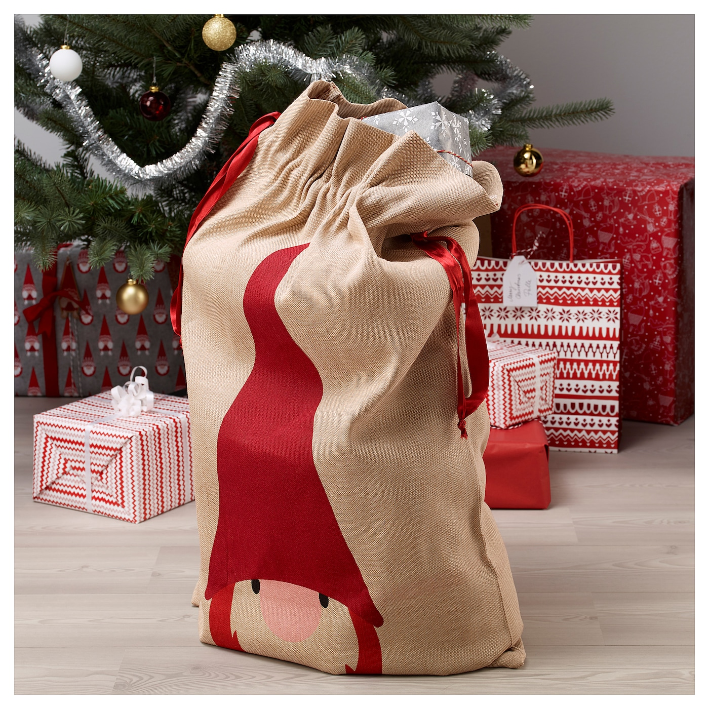 IKEA VINTER 2017 sack with string Can be used instead of gift wrap paper.