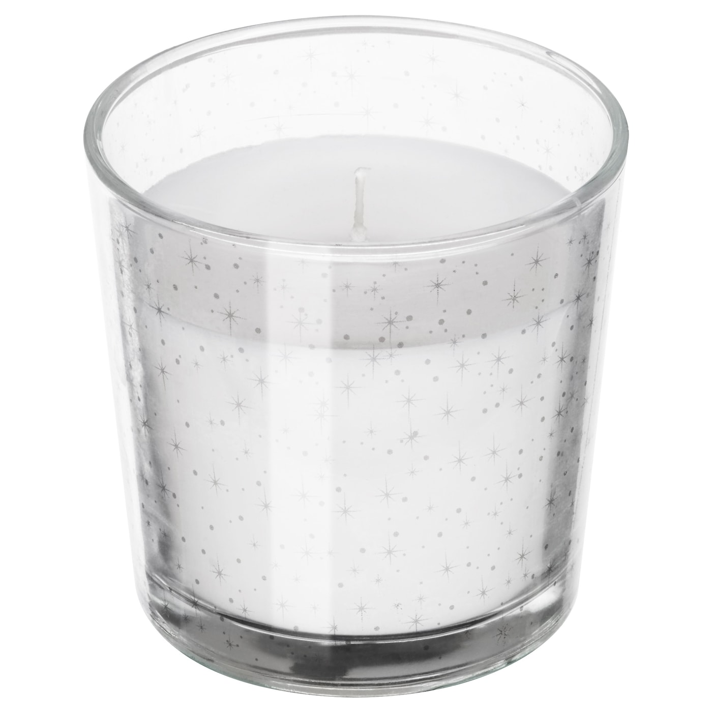 IKEA VINTER 2017 scented candle in glass An earthy and natural scent with hints of fire and smoke.