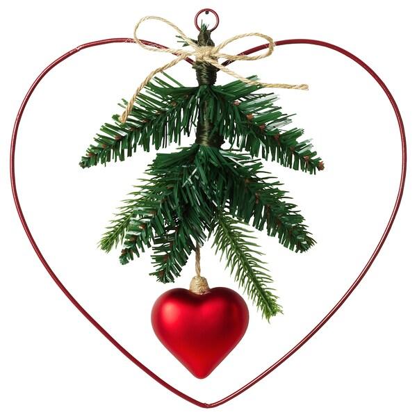 VINTER 2020 Decoration, wreath, heart-shaped, 24 cm