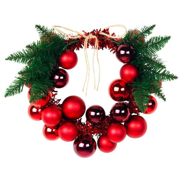 VINTER 2020 Decoration, wreath, red, 35 cm