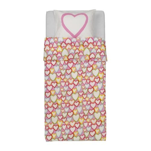 IKEA VITAMINER HJÄRTA quilt cover and pillowcase Cotton, soft and nice against your child's skin.