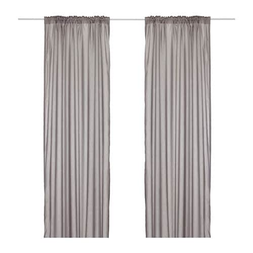 IKEA VIVAN curtains, 1 pair The curtains can be used on a curtain rod or a curtain track.