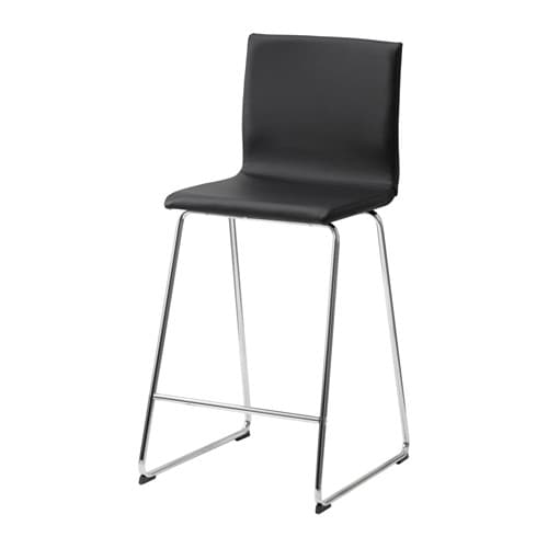 IKEA VOLFGANG bar stool with backrest You sit comfortably thanks to the padded seat.