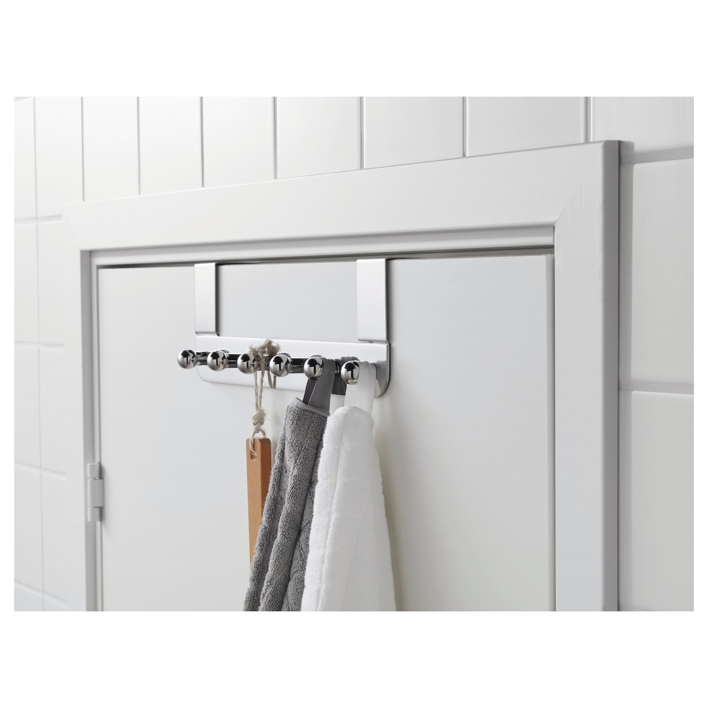 IKEA VOXNAN hanger for door Covered back prevents scratching of door.