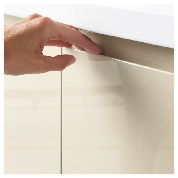 VOXTORP drawer front high-gloss light beige 79.6 cm 39.7 cm 2.1 cm