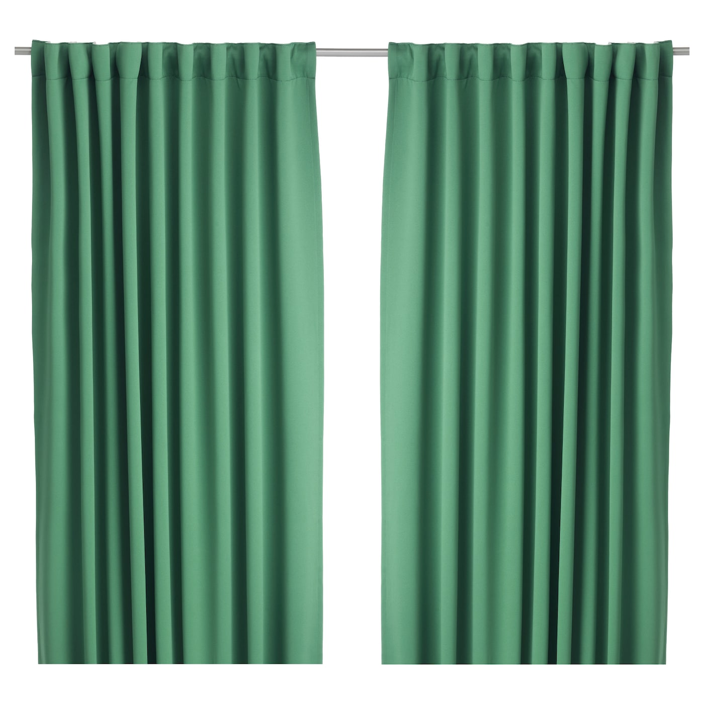 Werna Block Out Curtains 1 Pair Green 145x300 Cm Ikea