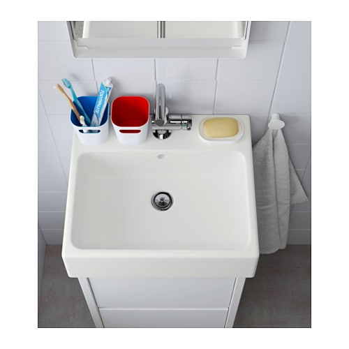 YDDINGEN Single wash-basin White 45 cm - IKEA