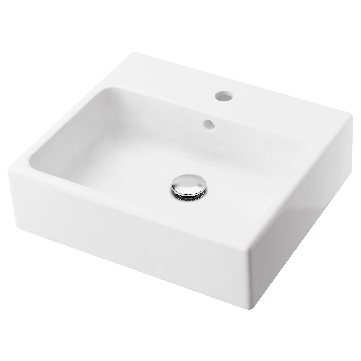 yddingen single wash basin white 45 cm ikea. Black Bedroom Furniture Sets. Home Design Ideas
