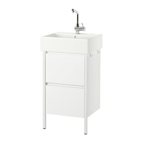 IKEA YDDINGEN wash-stand with 2 drawers Smooth-running and soft-closing drawers with pull-out stop.