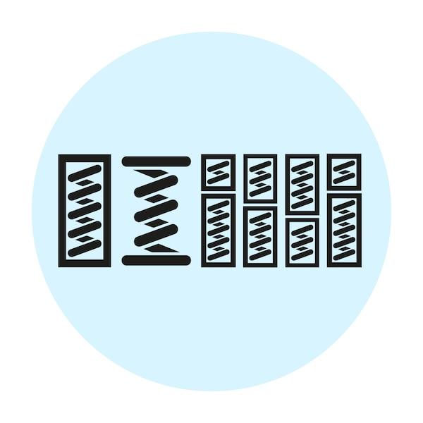 스프링 종류를 표시하는 세 가지 아이콘