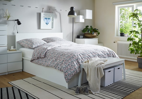 malm schlafzimmer serie  ikea
