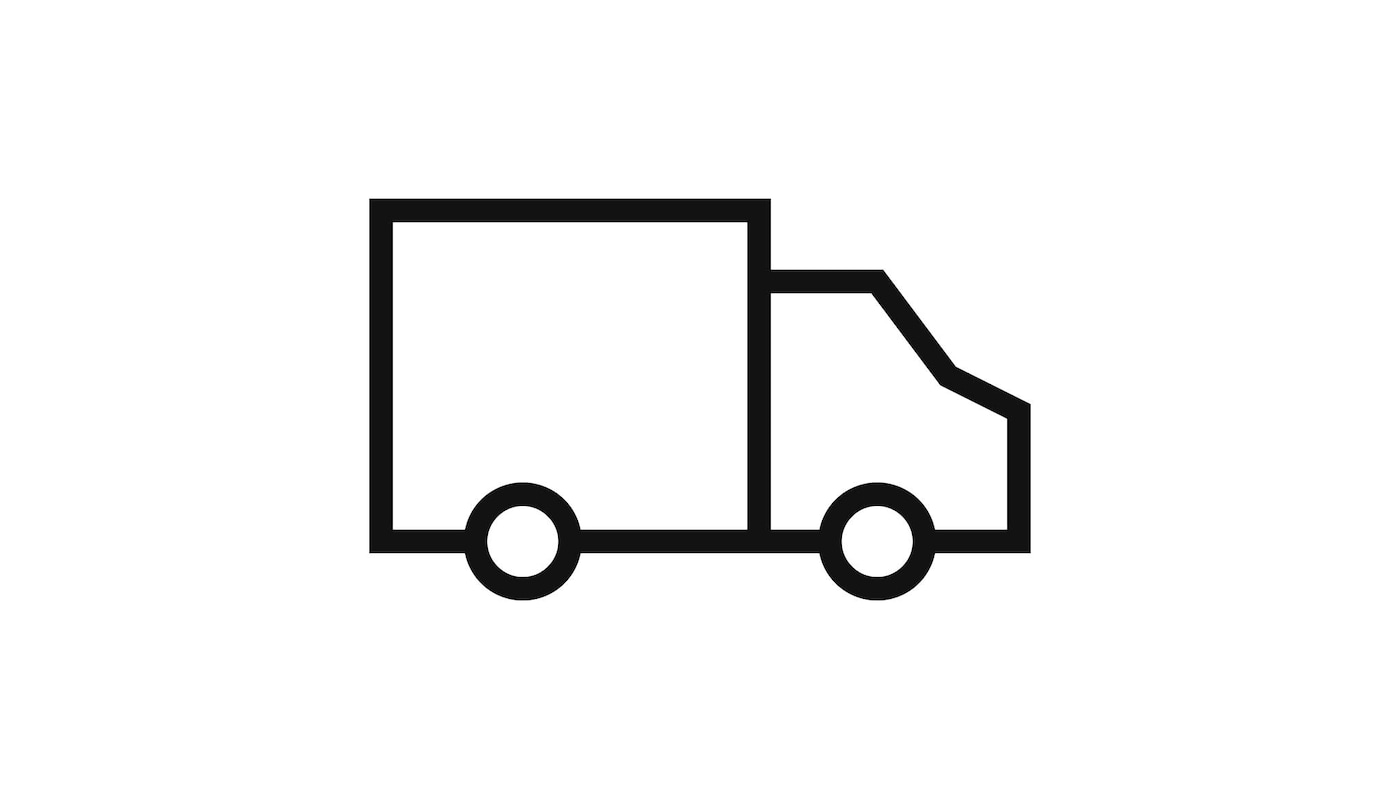 배송을 상징하는 트럭 픽토그램