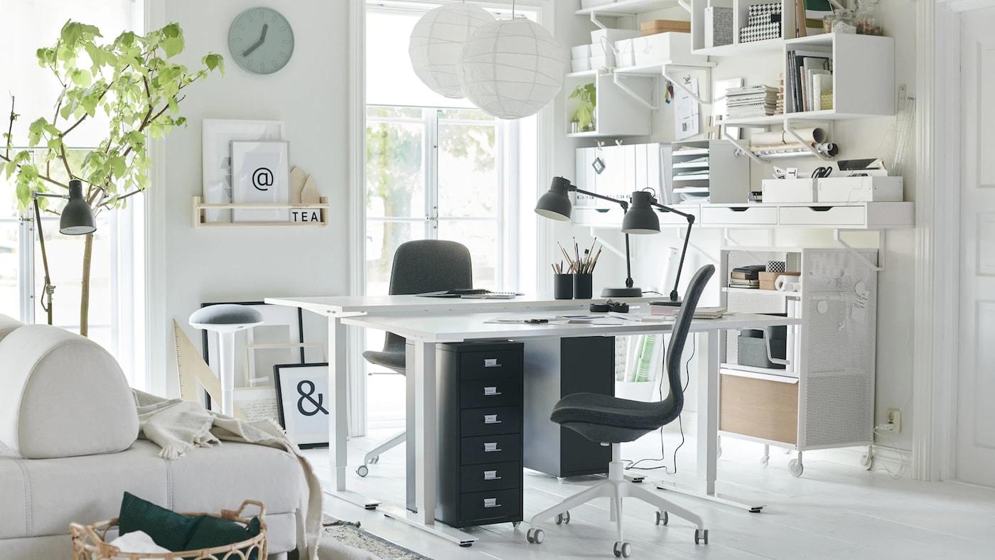 Decoraci n de oficinas c mo montar una oficina en el - Ikea mueble oficina ...