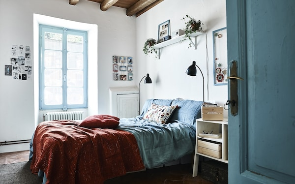 Home Visit One Bedroom Three Looks With Textiles Ikea