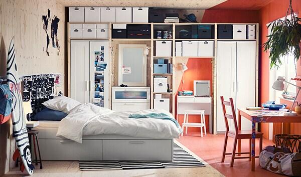 Brimnes schlafzimmer für mehr platz ikea