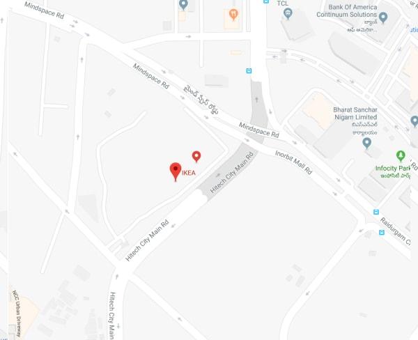 Ikea Hitec City Raidurg Serilingampally Mandal Survey No 83 1 Plot 25 26 Part 29 Panmaqtha Rangareddy Hyderabad 500032 Telangana India