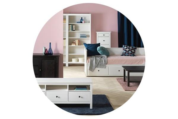Серия мебели ХЭМНЕС для спальни, прихожей, гостиной, ванной
