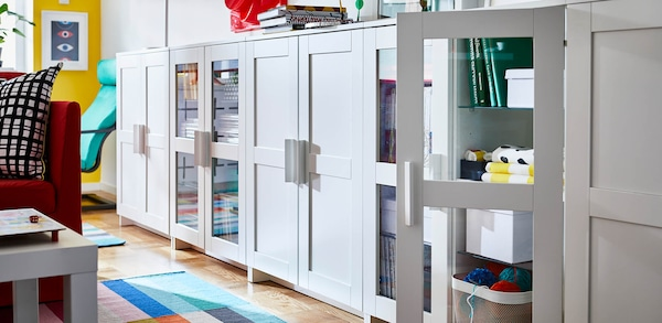 Link to BRIMNES for IKEA Family members to save 20% on BRIMNES storage products
