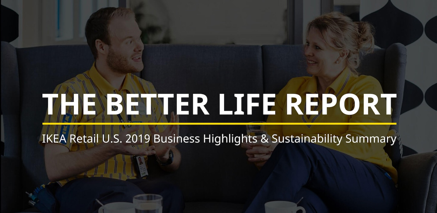 Linking to 2019 Better Life Report on IKEA Newsroom