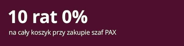 10 rat 0% na cały koszyk przy zakupie systemu do przechowywania PAX