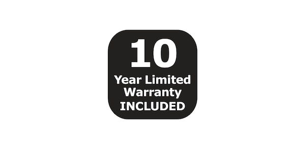 10 year warranty included