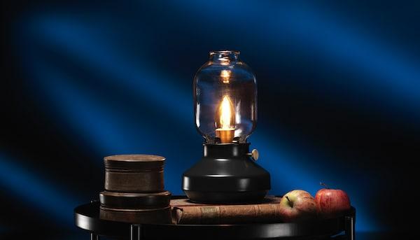 TÄRNABY lampe de table anthracite noir
