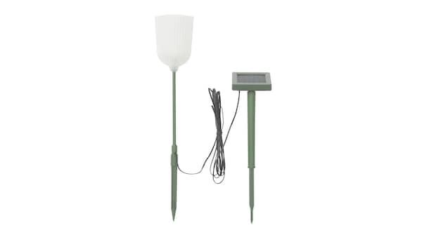 10451704 SOLVINDEN LED napelemes karó, kültéri harang alakú, virág fehér