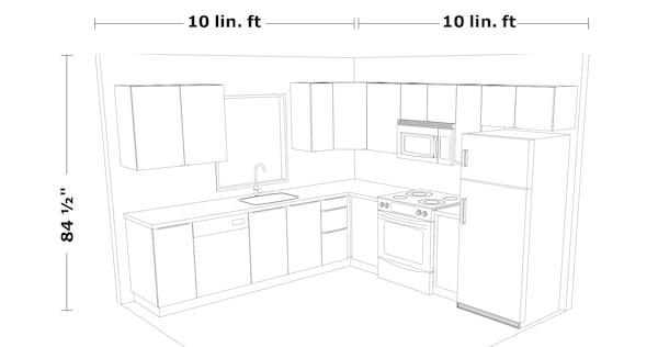 10x10' kitchen layout