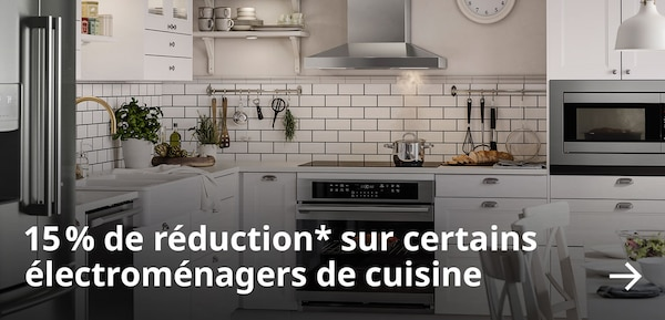 15 % de réduction sur certains électroménagers de cuisine.