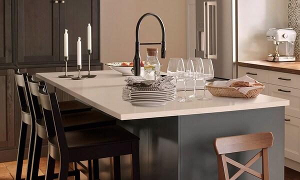 15% de réduction* sur les comptoirs de cuisine en quartz KASKER.