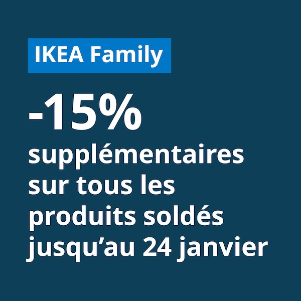 15% de remise supplémentaire sur les soldes pour les membres ikea family