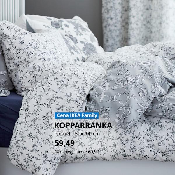 -15% na wszystkie tekstylia do sypialni, firany i zasłony. Oferta dla Klubowiczów IKEA Family, ważna do 03.11.2020r. lub do wyczerpania asortymentu.