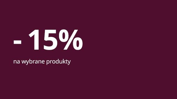 -15% na wybrane produkty