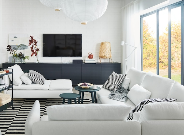 Living room design that link to the IKEA living room planners