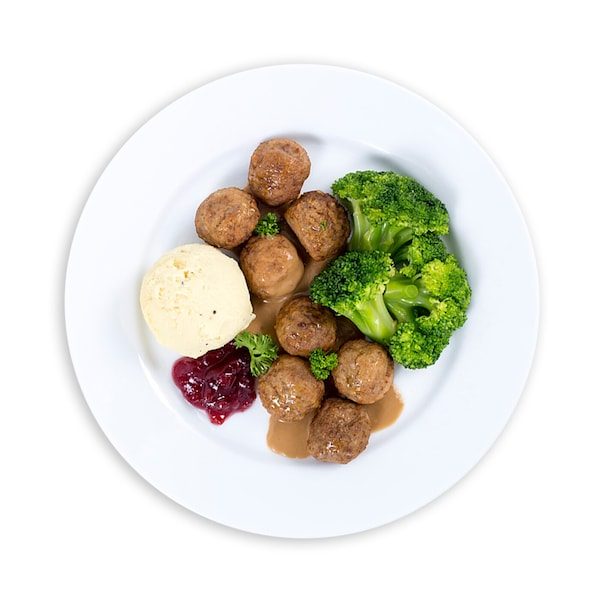 16pcs Beef Meatball with Mashed Potatoes and Broccoli