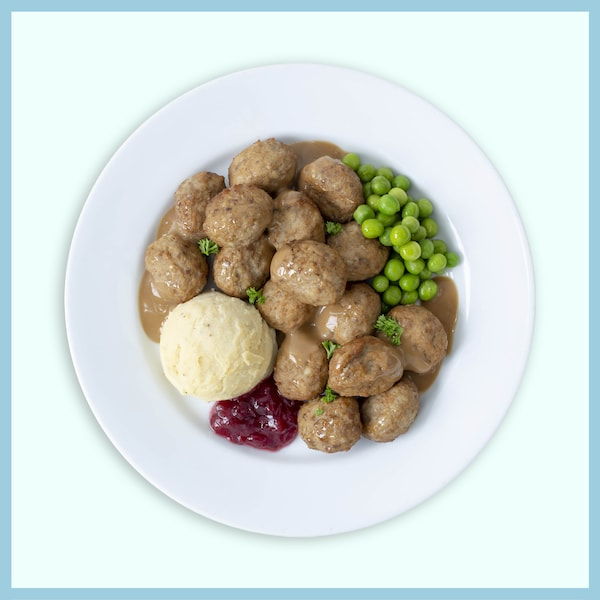 16pcs Beef Meatball with mashed potatoes and green pea