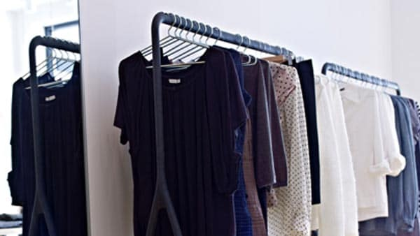 clothes hanging off a TURBO clothes rack