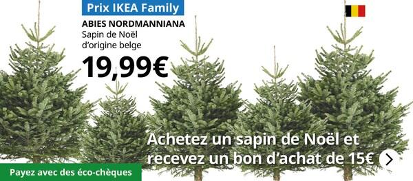 Achetez un sapin de Noël et vous recevrez un bon d'achat de 15€
