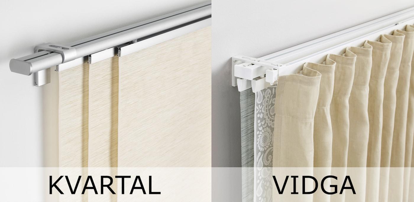 IKEA VIDGA Deckenbefestigung in weiß; zur Montage von VIDGA Gardinenschienen