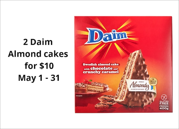 2 Daim Almond Cakes For 10 May 1 31