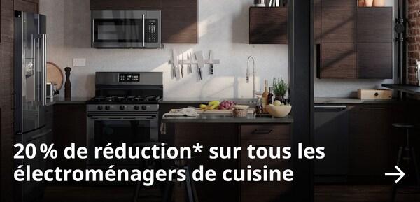 20 % de réduction* sur tous les électroménagers de cuisine.
