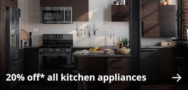20% off* all kitchen appliances.