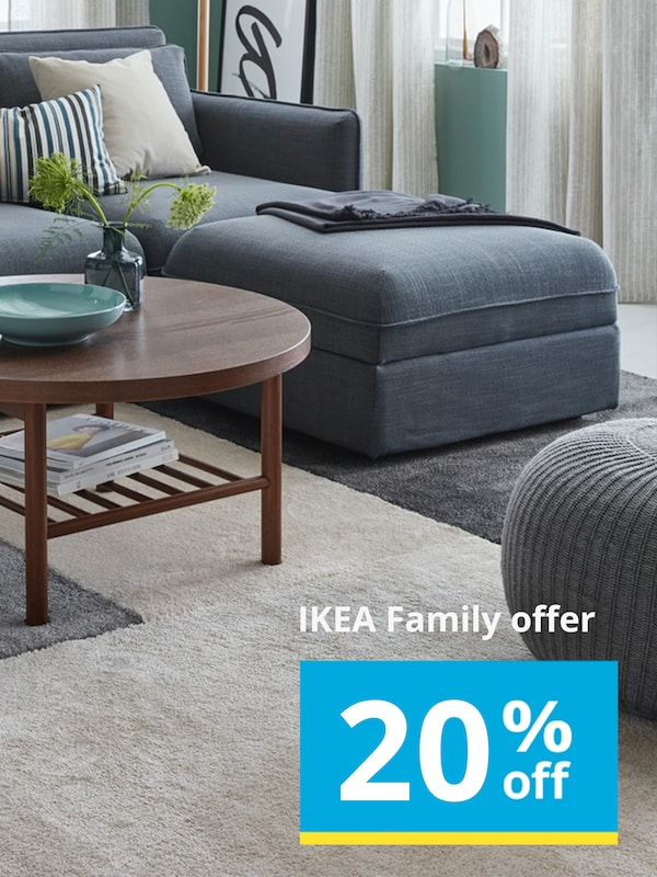 20% off selected rugs for IKEA Family members