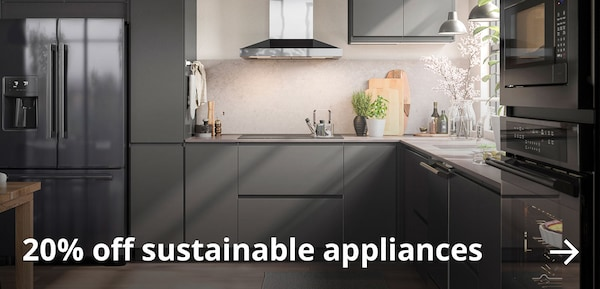 20% off* sustainable appliances.