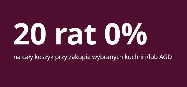 20 rat 0% przy zakupie wybranych produktów
