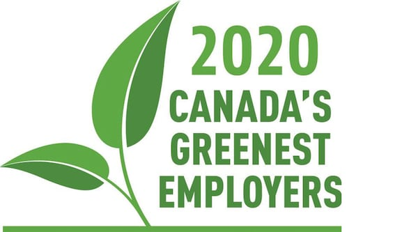 2020 Canada's greenest emplyer award