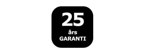 25 års garanti logo.